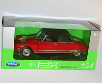 Welly - CITROEN DS19 CABRIOLET (Red) Die Cast Model - Scale 1:24