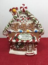 New Blue Sky Clayworks Christmas Dancing Gingerbread Bakery Tea Light H Goldminc