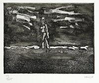 """DDR-Kunst. """"Strandläufer"""", 1978. Aquatinta Hans VENT (1934-2018 D), handsigniert"""