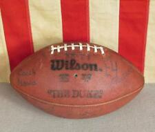Vintage Wilson The Duke Game Used Trophy Football Leather w/ Laces Signatures