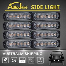 Amber 8x6-LED Side Light Marker LED Beacon Strobe Flashing Yellow Emergency ATV