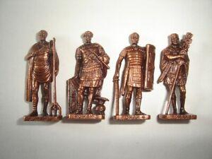 METAL FIGURINES SET - ROMANS SOLDIERS 100-300 AD COPPER BRONZE - KINDER SURPRISE