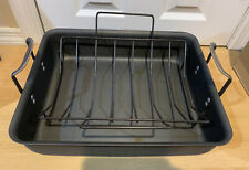 "Calphalon Contemporary Roasting Pan With Rack Large 16"" Nonstick"