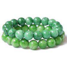 Natural Cold Jade Crystal Bead Men Women Lucky Charm Energy Bracelet Bangle UK
