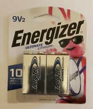 Energizer Ultimate Lithium Batteries 9V 2 Pack (L522BP-2)
