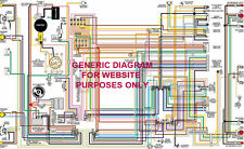 "1972 72 Chevy Chevelle & El Camino Full Color Laminated Wiring Diagram 11"" X 17"""