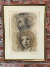 "Original Signed Print By Leonor Fini. Gallery Framed. ""Heads"" 133/150 L/E"