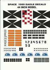 GERRY ANDERSON SPACE 1999 22 OR 44 INCH EAGLE TRANSPORTER WATER RELEASE DECALS