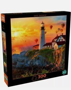 300 Piece Safe Passage Lighthouse Tower at Sea Vivid Jigsaw Puzzle