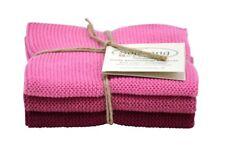 Wischtuch, Spucktuch gestrickt 3er Set * rosa mix dunkel  Solwang Design  DK