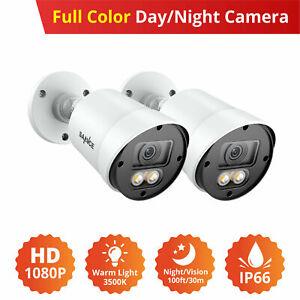 SANNCE Outdoor Full Color HD 1080P CCTV Camera Warm Light 3500K 100ft/30m Night