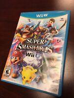 Super Smash Bros. Wii U Complete Nintendo With Manual