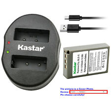 Kastar Battery Oval Dual Charger for Olympus BLS-5 & Olympus E-PM1 EPM1 Camera