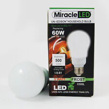 Miracle LED Un-Edison 5w 120v Frosted Cool White E26 Household LED Light Bulb