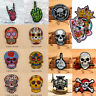 Skull Embroidered Sew On Iron On Patches Badge Clothes Fabric Applique DIY Craft