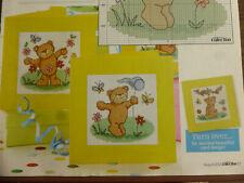 Cross Stitch Chart Fun in the Sun 4 Designs Teddies Playing Lucie Heaton (Z2)