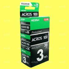 3 Roll Fujifilm NEOPAN ACROS 100 Black and White Negative Film 35mm x 36 Exp
