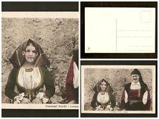 Cartolina costumi sardi Lanusei