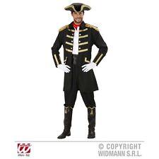 Extra Large Adult's Black Pirate Costume - XL Captain (coat Hat) Fancy Dress