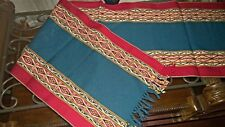 "New Peruvian Fine Handmade Rug or  Table Runner Wool Sheep 15"" x  62"""
