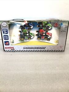 MarioKart Pull Back Cars - Toy Speed Race Car - Mario, Lugi, Toad & Yoshi GoKart