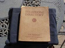 LOS ANGELES TELEPHONE BOOK-DECEMBER,1931-WALT DISNEY-BORIS KARLOFF-JOHN WAYNE