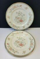 "Set/3 Royal Doulton Minton Jasmine 10.75"" Fine Bone China Dinner Plate 1977-1997"