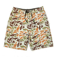 STUSSY!!! Loose fit shark print 3/4 board shorts