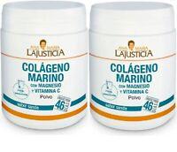 COLAGENO MARINO CON MAGNESIO + VIT C 2x350gr Envio urgente gratis LAJUSTICIA