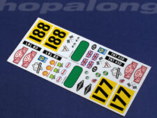 Scalextric/Slot Car 1/32 'Monte Carlo Mini' Waterslide Decals (with white print)