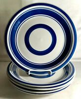 "5 Royal Norfolk Blue Band 10 3/4"" Dinner Plates"