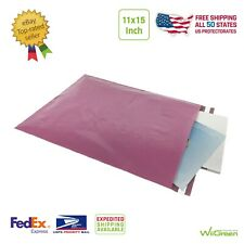 #4 11x15 inch 2.0 MIL Poly Mailers Shipping Envelopes Packaging Bags, Rose Pink