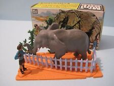 BRITAINS Plastic Zoo Animals: ELEPHANT & BOY MINI SET #1033