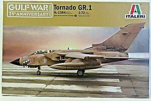 Italeri 1384 plastic plane kit TORNADO GR.1 (Gulf war 25th Anniversary) 1:72 New