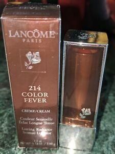 LANCOME 214 COLOR FEVER LIPSTICK BROWN NEW IN BOX
