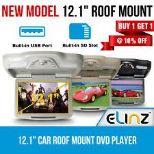 "12.1"" Car Roof Mount DVD player Flip Down Monitor 12V USB SD 32 Bits Games IR"
