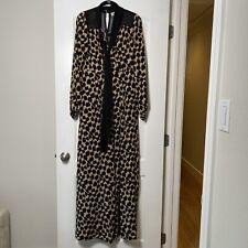 Diane Von Furstenberg Henlow Silk Printed Jumpsuit Size 6