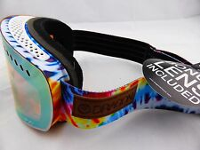 Dragon NFXs Frameless Snow Goggles Tie Dye - Gold Ionized + Yellow Blue Ion