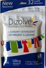 DIZOLVE WASHING POWDER SHEETS 32 WASHES PER PACK FRESH LINEN ECO-STRIPS