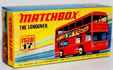 Matchbox Superfast No 17 THE LONDONER  Repro empty  box  style I