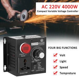 AC SCR Motor Regler 4000W Spannungsregler Drehzahlregler Dimmer Controller S3K5