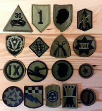 More details for us army shoulder sleeve insignia - subdued patches x17