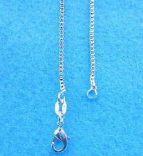 1PCS 30 inches Wholesale Jewelry 925 Sterling Silver Plated Box Chain Necklaces