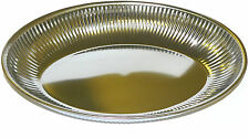 Lockhart Fluted Basket Oval Table Stainless Steel Serving Dish 26cm x 18cm