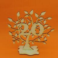 Jubiläums Baum 20 Geburtstag, aus Holz 16 cm Lebensbaum Geschenk Hochzeit