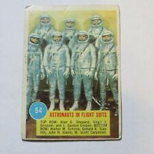 1963 TOPPS ASTRONAUTS #54 - Astronauts in flight suits