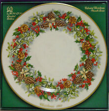 Complete Set of 13 Lenox Colonial Christmas Wreath Plates Mint In Box