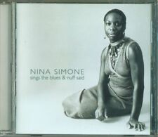 Nina Simone - Sings The Blues / Nuff Saud Cd Perfetto