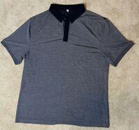 Lululemon Mens Polo Golf Shirt- Grey and Black XL Short Sleeved