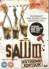 SAW 3 - EXTREME EDITION. Tobin Bell, Shawnee Smith (NEW/SEALED DVD 2007)